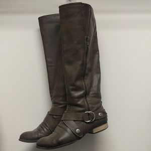 Diba Women's Taupe Tall Boots 7.5 M
